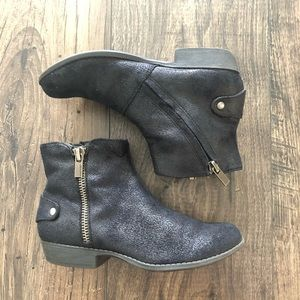 Nine West Lily Black Boots Booties Shoes Girls Zip